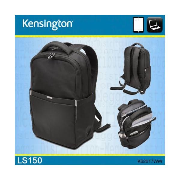 """51 CwaveN+L. SS600  - Kensington LS150Mochila para portátil de 15.6"""" o Tablet, Bolsa de transporte, color negro"""