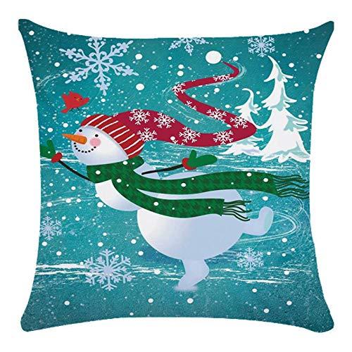 AMhomely Navidad decoraciones venta Navidad impreso piel melocotón funda de cojín 1 pieza decoración al aire libre bolas regalos para niños adultos Reino Unido
