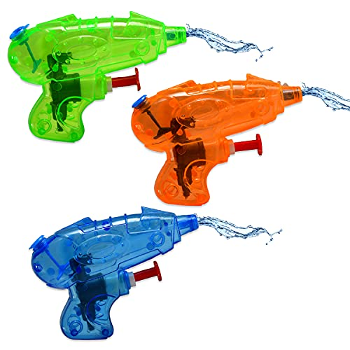 8X Mini Spritzpistole für Kinder im Set   Bunte Wasserpistolen aus Plastik in Premium Qualität  Wasser-Spritzpistole Watergun für Wasserspiele im Sommer   ideal als Wasserspielzeug & Mitgebsel