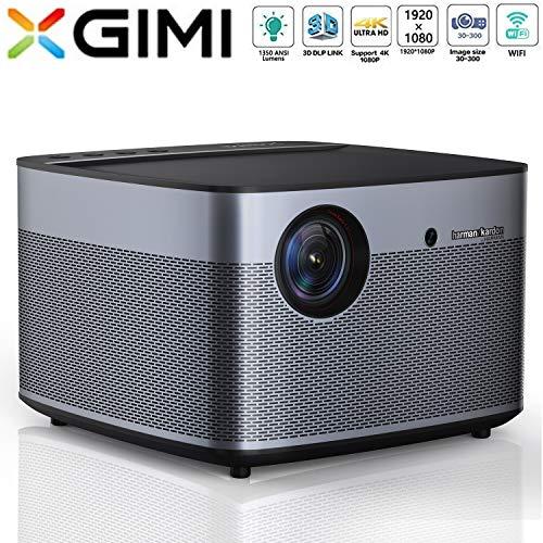 XGIMI H2 LED Smart Beamer 1080P HD 1350 ANSI Lumen 3D Projektor Heimkino mit Harman Kardon Lautsprecher Android System Support 4K Lebensdauer bis 50.000 Stunden (H2)