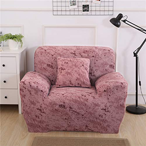 SJHP Toalla de sofá Antideslizante elástica Todo Incluido Tela de Cubierta Completa, Cubierta de sofá Impresa, Cubierta de sofá de Esquina para Sala de Estar Brick Red-Single Seat