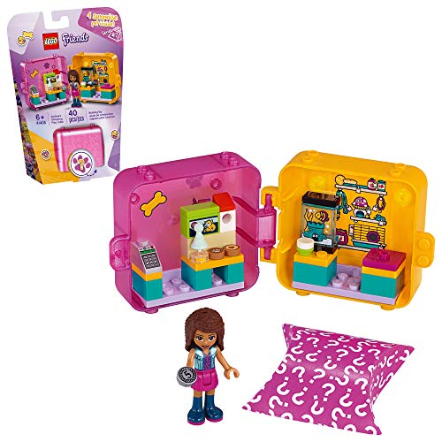 LEGO Friends Andrea?s Shopping Play Cube 41405 Building Kit, Includes a Mini-Doll and Toy Pet, Promotes Creative Play, New 2020 (40 Pieces)