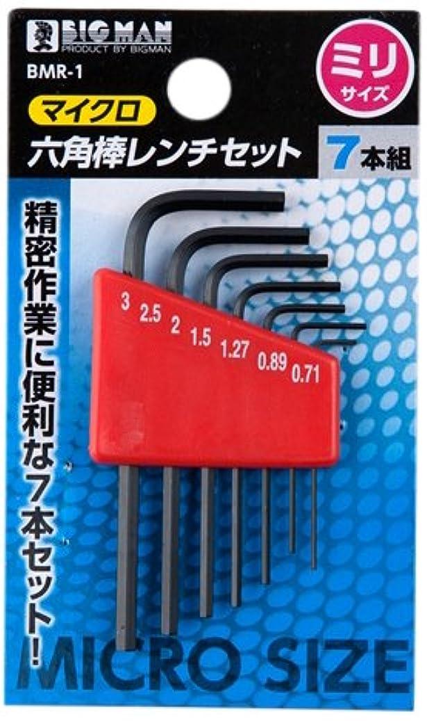BIGMAN(ビッグマン) マイクロ六角棒レンチセット 7本組 ミリサイズ BMR-1
