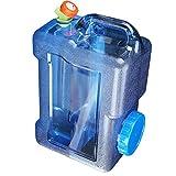 Acampa Portable del Cubo de Agua con Grifo de Calibre Grande Inyección de Agua Agua Puerto Recipiente de Almacenamiento para Acampar al Aire Libre Senderismo Auto-conducción (12 Liters)