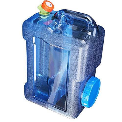 Acampa Portable del Cubo de Agua con Grifo de Calibre Grande Inyección de Agua Agua Puerto Recipiente de Almacenamiento para Acampar al Aire Libre Senderismo Auto-conducción (5 Liters)
