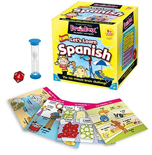 Brain Box - Impariamo Lo Spagnolo, Gioco per Imparare divertendosi [Lingua Inglese e Spagnola]