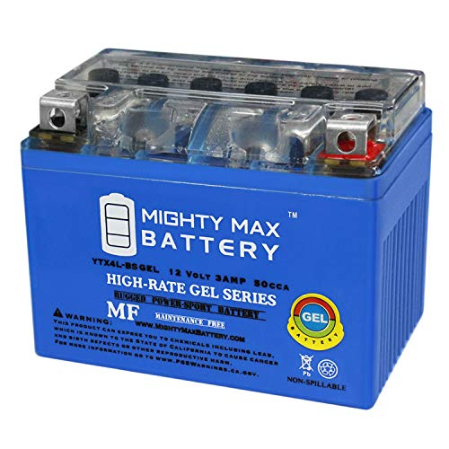 Mighty Max Battery YTX4L-BS Gel Battery for ATV Quad Dirt/Pit Bike 50/70/110/125 CC Brand Product