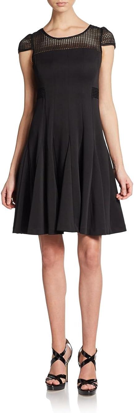 Betsey Johnson Lattice Illusion Dress, Black