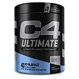 C4 Ultimate Pre Workout Powder ICY Blue Razz - Sugar Free Preworkout Energy Supplement for Men & Women - 300mg Caffeine + 3.2g Beta Alanine + 2 Patented Creatines - 40 Servings