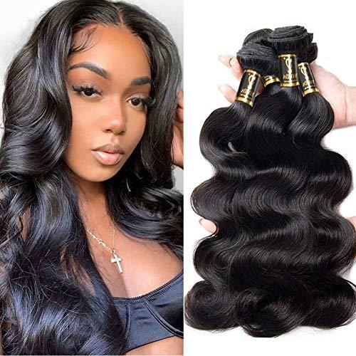 Yavida Tissage Brésilien en Lot Cheveux Vierge Ondulé Tissage Bresilien en Lot Meche Bresiliennes Tissage Remy Hair Ondulé Tissage Cheveux de Vague de Corps 16 18 20