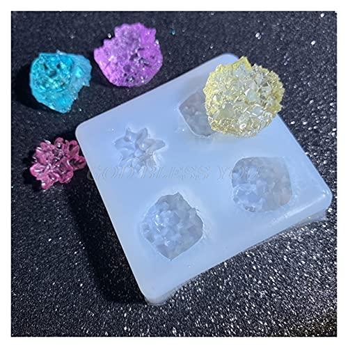 Changskj Moldes de Resina Simulación Piedra Cristal Epoxy Resina Molde Decoraciones Colgante Pastel de Chocolate Molde de Silicona DIY Crafts Joyería Herramientas