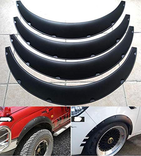4Pcs 3.5'/90mm Universal Flexible Car Fender Flares Extra Wide Body Wheel Arches