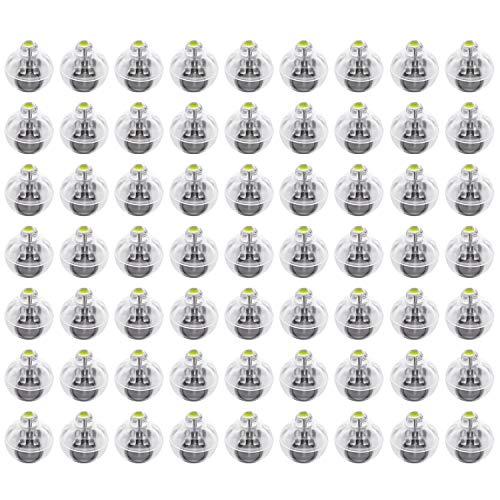 FEPITO 100 Pz Mini luci a LED Palloncini Luci a palloncino a LED bianco Lampada a sfera senza fili per lanterna di carta Palloncino Luce per feste Decorazioni per feste di Halloween