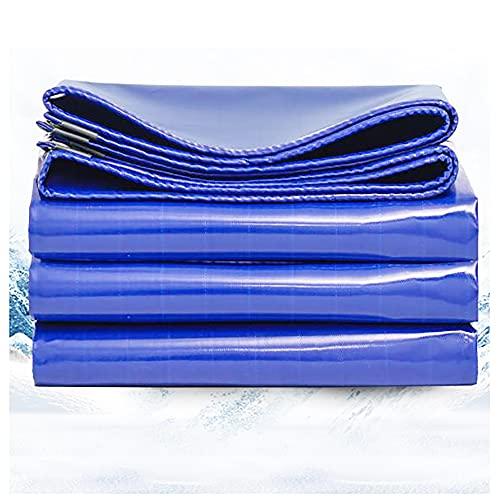 YCCLIFD Lonas de Impermeable 2x2m Lonas Lona Protectora de PVC con Ojales 550g/m² Azul Resistente a los Rayos UV Resistente al Nieve para Cubrir Muebles Camiones (Size:3x4m9x13FT,Color:B)