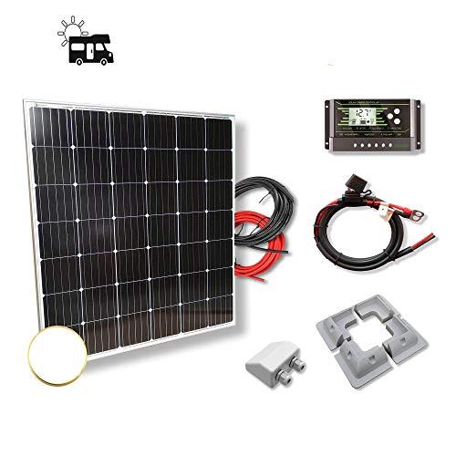 Kit 200W CAMPER 12V panel solar monocristalino células alemanas