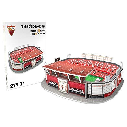 Sevilla FC Nanostad, Puzzle 3D Estadio Sánchez Pizjuán Mini de Sevilla (34012), Multicolor (Kick Off Games 1)