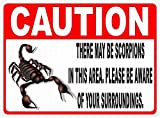 Hunnry Caution Scorpions Poster Metall Blechschilder Retro