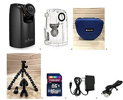 Brinno TLC200PRO HDR Time Lapse Video Camera + ATH120 Weather Resistant Housing + Smartec Camera Bag + Smartec Flexible Spider Tripod +KIT by Brinno