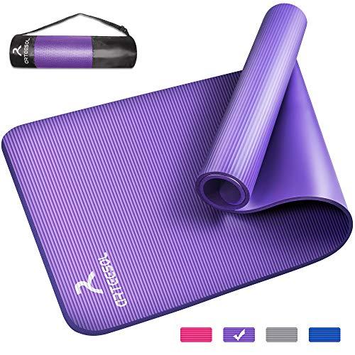 arteesol, tappetino da yoga in NBR, materiale antiscivolo, 185 cm x 80 cm x 1/1,5 cm, tappetino da fitness per yoga, pilates, fitness e allenamento, fucsia, 185x80x1cm