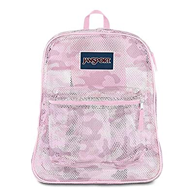 JanSport Mesh Pack - See Through Backpack | Cotton Candy Camo Print