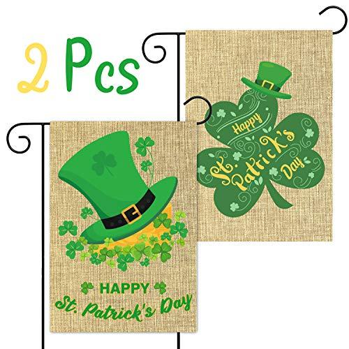 Party Set of 4 Green Shamrock Clovers Kittens Drinks Cats Luck of the Irish Catnip Ravioli Pillow Toys St Patricks Day