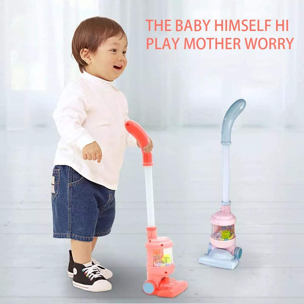 Yuanqu Aspirapolvere di finzione per Bambini Gioca a Simulazione di Giocattoli Aspirapolvere Sicurezza Non tossica Giocattoli educativi per Bambini