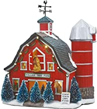 St Nicholas Square Christmas Village Collection Illuminated Tree Farm Barn NEW for 2015