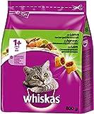 Whiskas - Comida para gato, alimento seco para gatos adultos, Paquete de 5 (5 x 800 gramos)