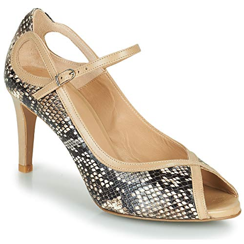 Perlato 11793-pyton-naturel-jamaica-naturel Pumps Damen Braun - 40 - Pumps Shoes