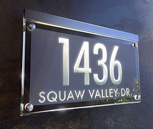 Illuminated Crystal Address Plaque! The Personalized Address Numbers Shine brilliantly!
