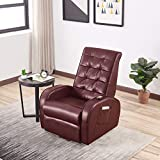 Lift Recliner Chair, Overstuffed Lift Chairs for Elderly with Remote, Side Pocket, Power Reclining Chair for Living Room Home Theater Seating, Faux Leather