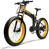 26' batería de litio de la montaña de bicicleta eléctrica de 36V 250W 6AH Diseño oculto de la batería 35 Millas de Alcance y frenos de doble disco de aleación de bicicleta eléctrica ( Color : Yellow )