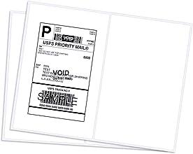 Half-sheet shipping labels