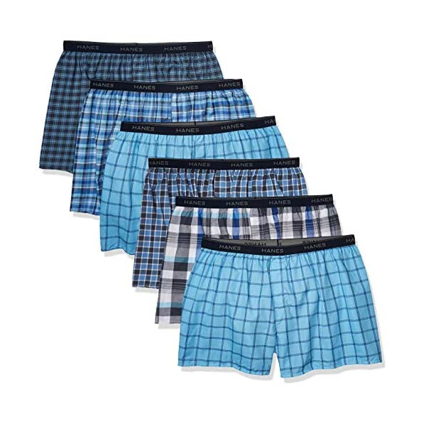 Hanes Men's Tagless Boxer Brief with Exposed Waistband – Multipack