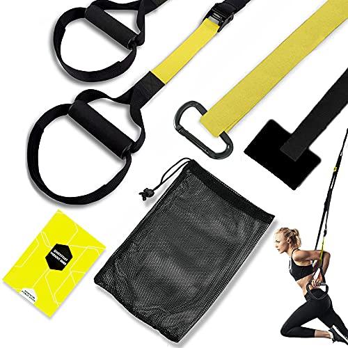 Schlingentrainer,Schlingentraining Set mit Türanker,Sling Trainer,Suspension Trainer System,Suspension Trainer Fitness Band,Fitness Zuhause Suspension