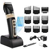 QIYUEQI Hair Clipper 11 en 1 Professional Trimmer Set para Hombres con 9 peines Estación de Carga Pantalla LCD Recortador de Cabello Recargable