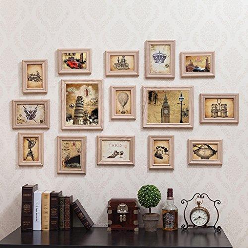 NYDZDM Mur photo européen européen combinaison créative rétro Cadre photo mur 6 6 10 pouces Salon Chambre (Color : White)