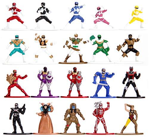 Jada Toys 253255015 Power Rangers - Juego de 20 figuritas coleccionables (4 cm)