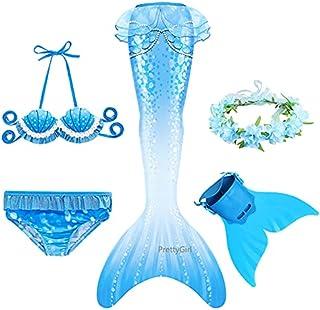 Dresses Mermaid Tail With Monofin Flipper Mermaid Costume Cosplay Mermaid Bikini Swimsuit Girls Dress (Color : Dark Grey, ...