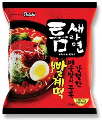 韩国进口 八道(PALDO)方便面拉面 极地麻辣汤面 缝隙拉面 600g(120g*5包入) South Korea imported PALDO instant noodles 600 g (120 g*5 packed) polar spicy soup noodles slit noodles