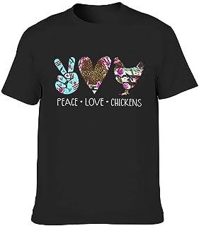 Camisas sarcásticas de moda para hombre, diseño hippie Peace Love