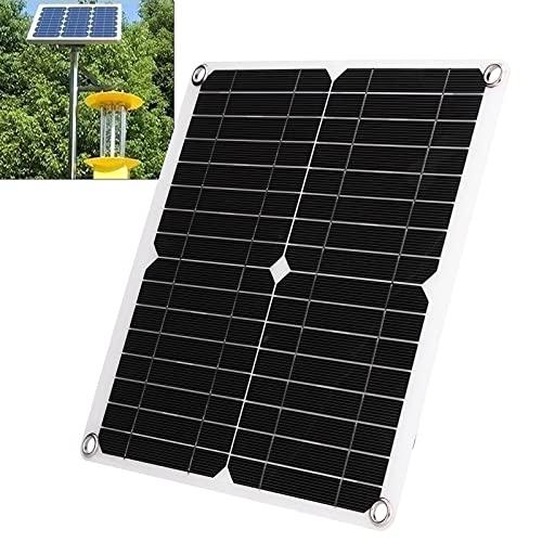 Kit de cargador solar, placa de carga solar flexible de silicio monocristalino Puertos USB hembra duales IP65 Impermeable para acampar para viajar para vehículos recreativos para barcos