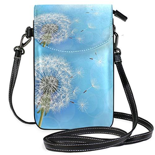 ZZKKO Handtasche mit Pusteblumen-Blumenmuster, für Handy, Freizeit, Reisen, Wandern, Camping