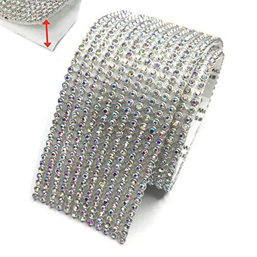 Anyasen Banda autoadhesiva con diamantes de imitación brill