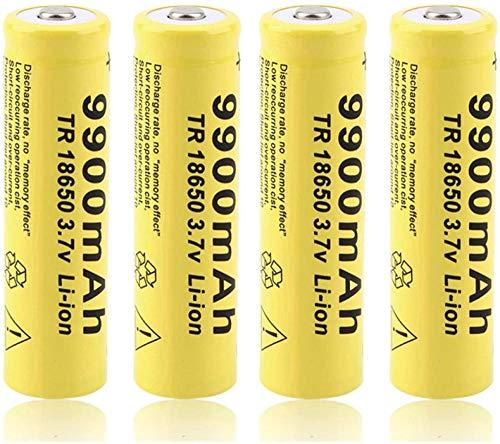 1pcs 3.7v 18650 9900mAh Batería de Litio Recargable 9900mAh para Flasslight RC Toys Feurlamp Power Bank Micrófono Radio-4 Piezas