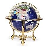 Globo terráqueo, Gran Globo de Piedras Preciosas de Escritorio, decoración del hogar, Globo terráqueo, para educación geográfica Moderna, azul-22cm