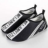 Calcetines de Buceo Skin Shoes Barefoot acuáticos de los Hombres Speed Dry Swim Surf Buceo Playa Calcetines Fácil Ajuste Calzado (Color : Black, Size : 36-37)