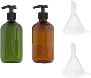 TOPBATHY 2PCS 500ml Empty Shampoo Bottles Opaque Versatile Pump Bottle Drip-Free Lotion Container Hand Soap Dispenser with...