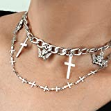Yaomiao 24 Pieces Layered Necklace Mutilayer...