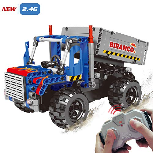 STEM Learning Kit | Truck Construction Toys with Remote Control, Cool Educational Engineering Building Set for Boys And Girls ages...